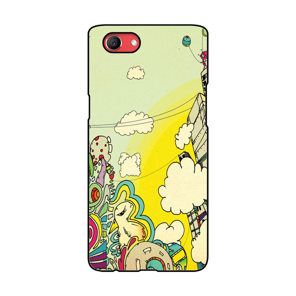 Cartoonistic Printed Oppo Mobile Case