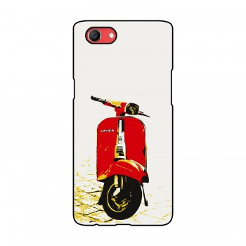 Red Vespa Printed Oppo Mobile Case