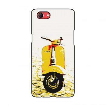 Yellow Vespa Printed Oppo Mobile Case