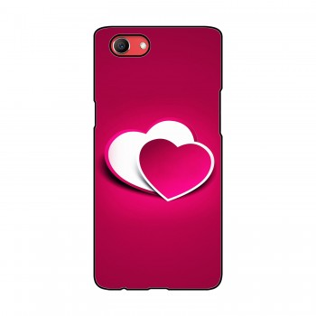 Pink Heart Printed Oppo Mobile Case