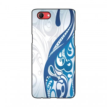 White And Blue Design Printed Oppo Mobile Case
