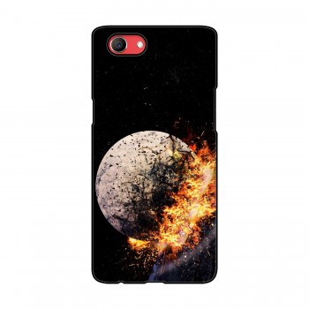 Crystal With Fire Printed Oppo Mobile Case