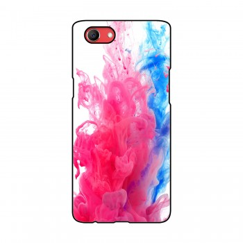Blue And Pink Colors Flow Printed Oppo Mobile Case