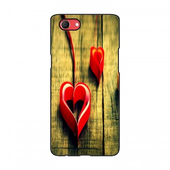Heart Ribbon Printed Oppo Mobile Case