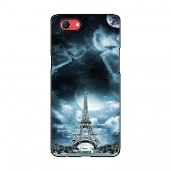 Eiffel Tower With Clouds Printed Oppo Mobile Case