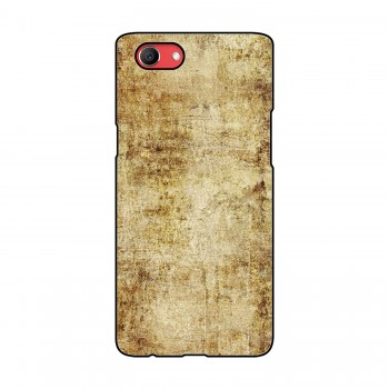Brown Plain Background Printed Oppo Mobile Case
