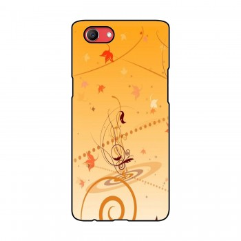 Orange Flora Printed Oppo Mobile Case