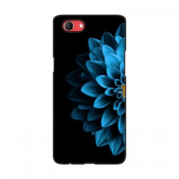 Blue Colored Flower Printed Oppo Mobile Case