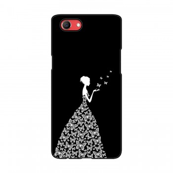 Butterfly Girl Printed Oppo Mobile Case