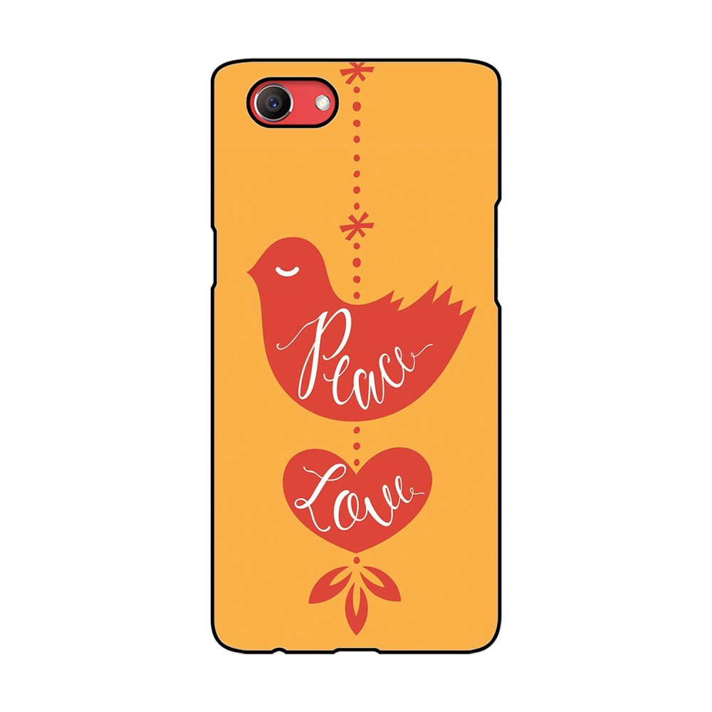 Peace Love Printed Oppo Mobile Case