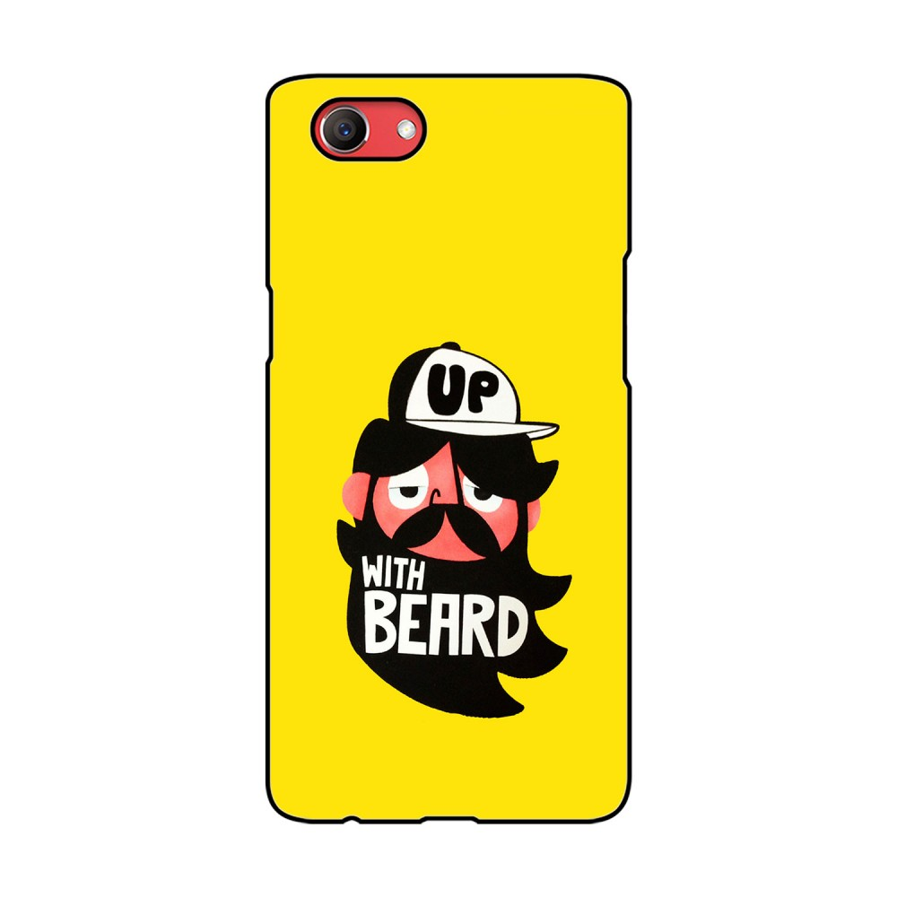 Up With Beard Cartoon Printed Oppo Mobile Case