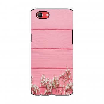 Pink Board White Flowers Printed Oppo Mobile Case