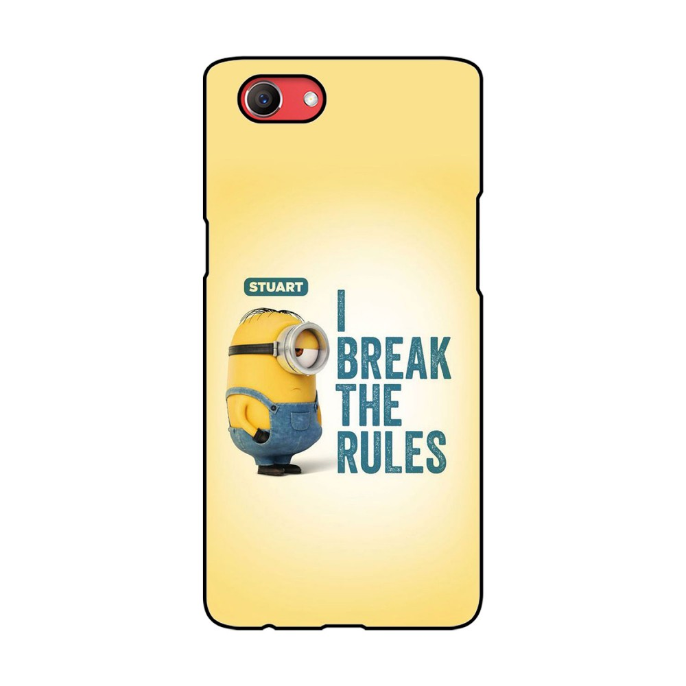 I break The Rules Text Printed Oppo Mobile Case