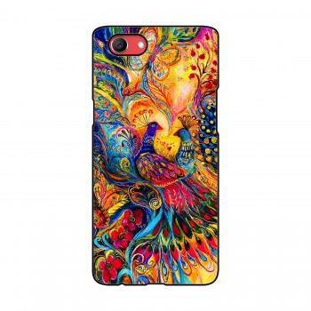 Colorful Peacocks Printed Oppo Mobile Case