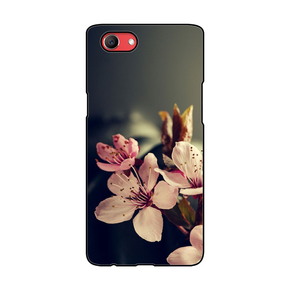 White And Pink Flowers Printed Oppo Mobile Case