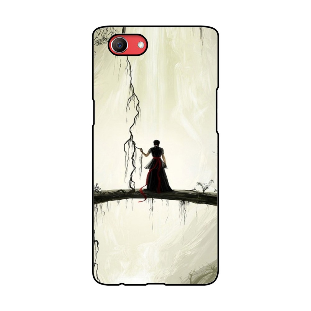 Lady Alone Printed Oppo Mobile Case