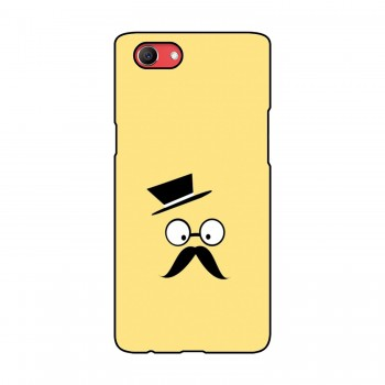 Hat With Mustache Printed Oppo Mobile Case