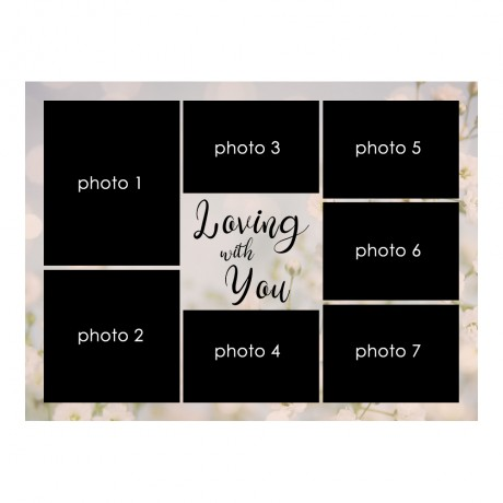 Loving With You Collage Frame