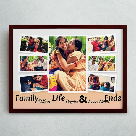 Family Quote Collage Frame