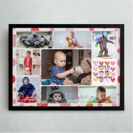 Kids Collage Frame With Your Text
