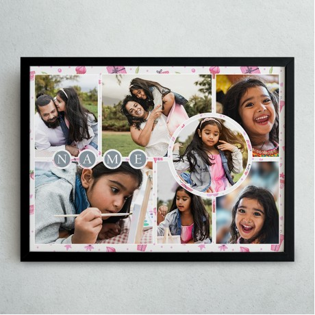 Kids Collage Frame With Name