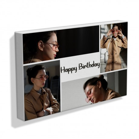 Happy Birthday Text Collage Frame