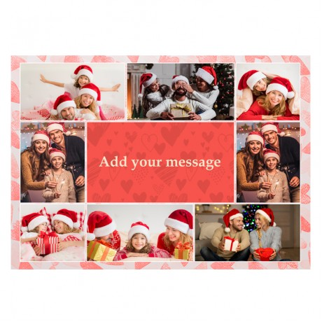 Family Collage Frame With Your Message