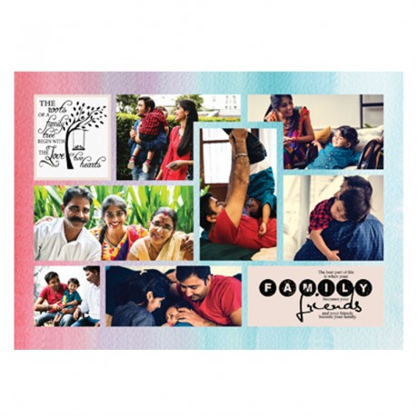 Family Friends Quote Collage Frame