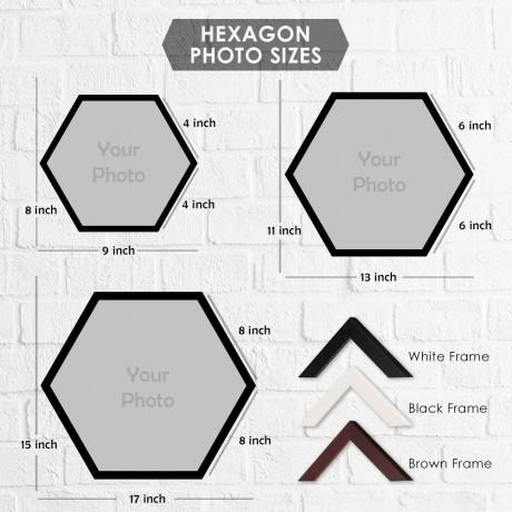 Personalized Hexagon Double Horizontal Frames