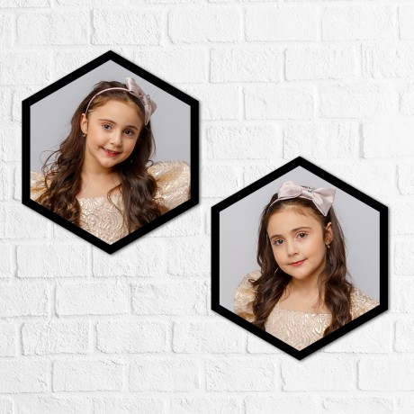 Personalized Hexagon Double Vertical Frames