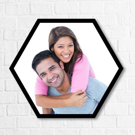 Personalized Hexagon Single Horizontal Frame