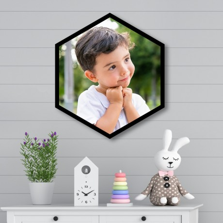 Personalized Hexagon Single Vertical Frame