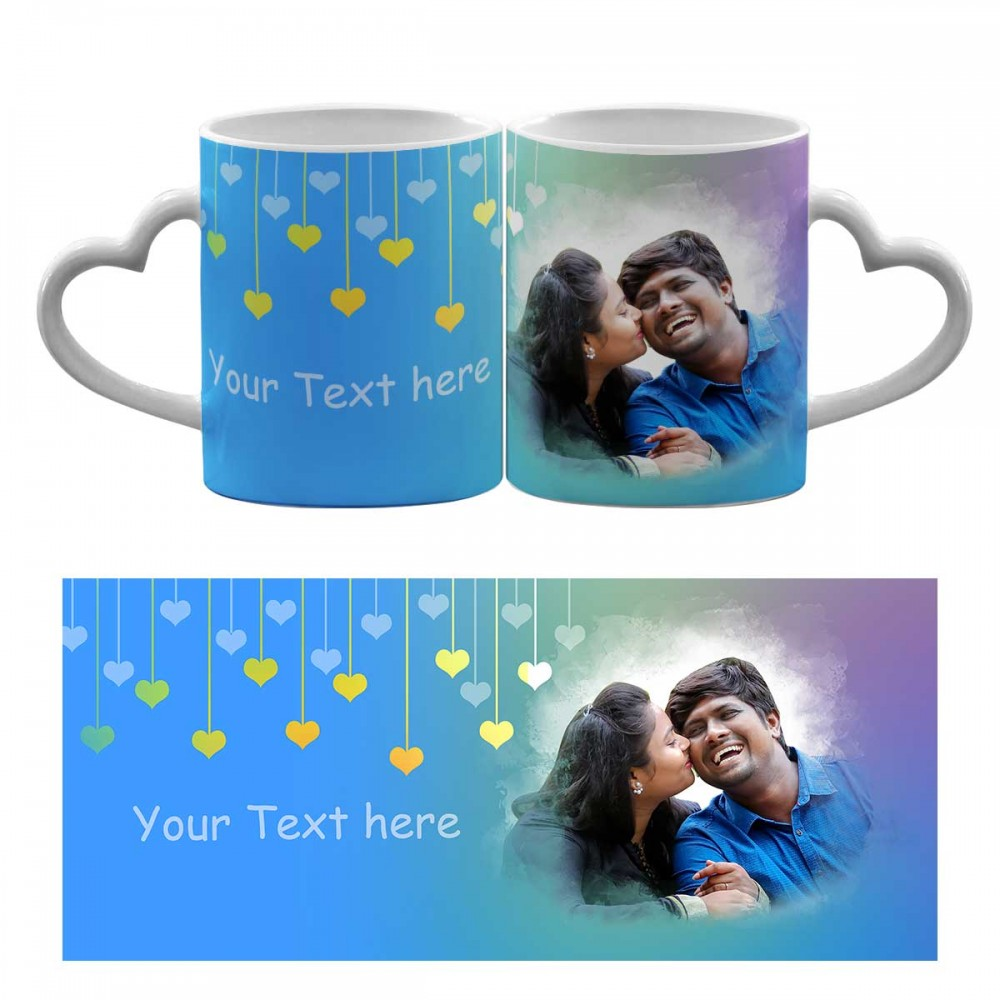 Heart Handle Mug - with your text