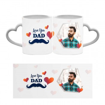 Love You Dad Heart Handle Mug 2