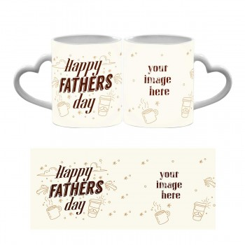 Personalised Happy Fathers Day Heart Handle Mug