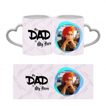 My Dad Is My Hero Heart Handle Mug
