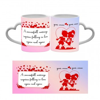 Marriage Quote Heart Handle Mug