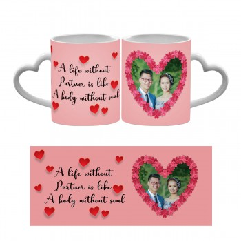 Personalised love quote Photo mug