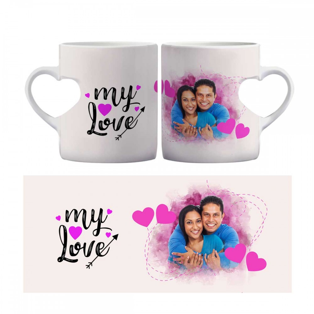 Personalised Heart shaped mug