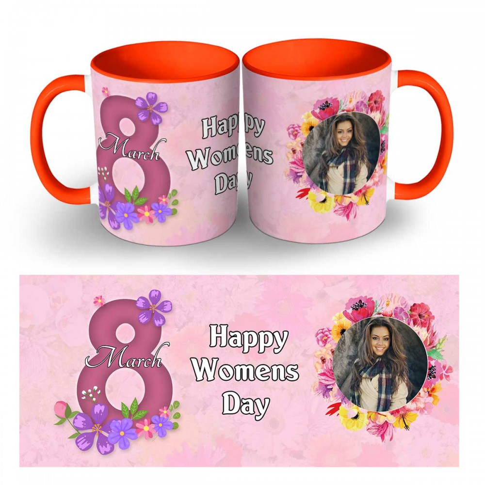 Personalised Happy Womens Day Photo Mug 1