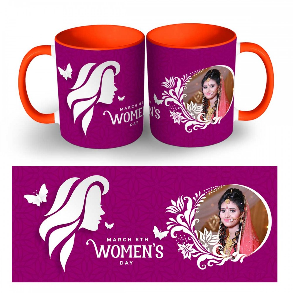 Personalised Happy Womens Day Photo Mug 3