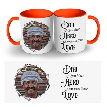 Personlaised Dad's Quoted Photo Mug