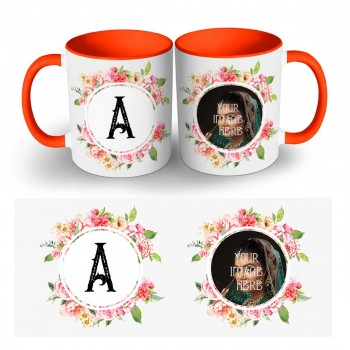 Personalised Photo with Alphabet Mug