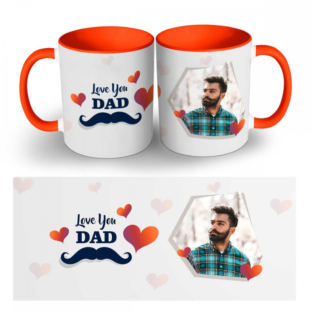 Personalised Love you dad Quoted Photo Mugs