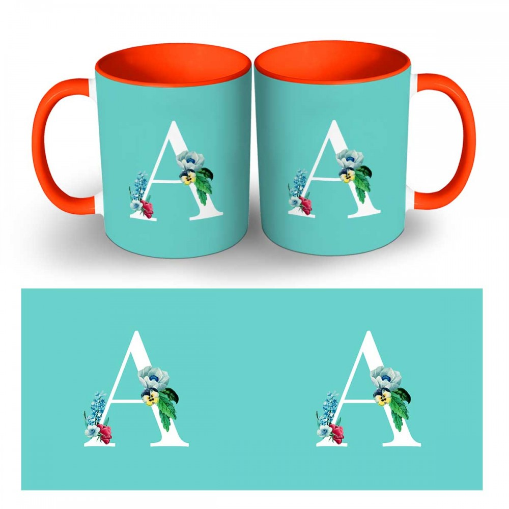 Personalised Alphabet two tone Mug