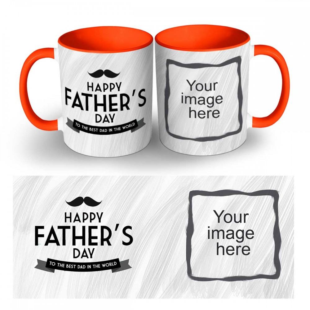 Personalised Happy Fatherday Quoted Mug