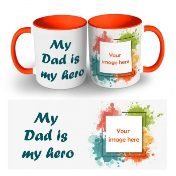 My Dad Is My Hero Photo Mug