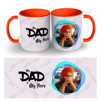 Personalised My Dad is My Hero Quoted Photo Mug