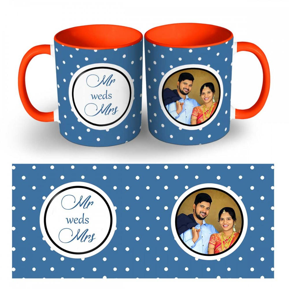 Wedding Two Tone Photo Mug