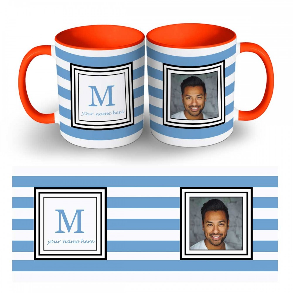 Alphabet With Your Name Two Tone Photo Mug 2